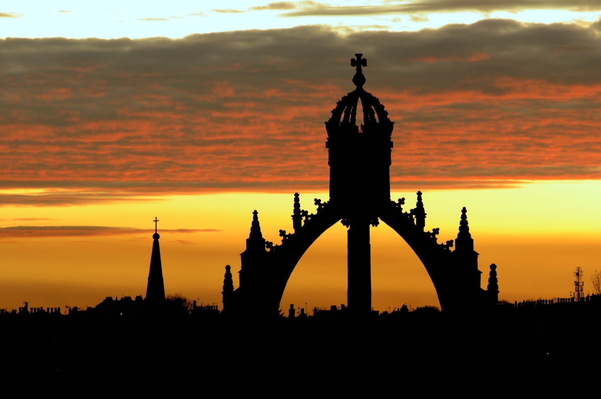 Kings College At Sunset